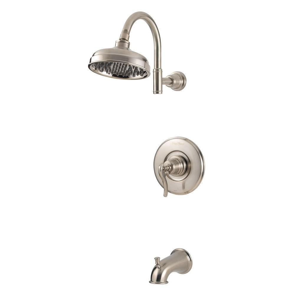 Price Pfister Ashfield 1-Handle Tub and Shower Faucet in Brushed ...