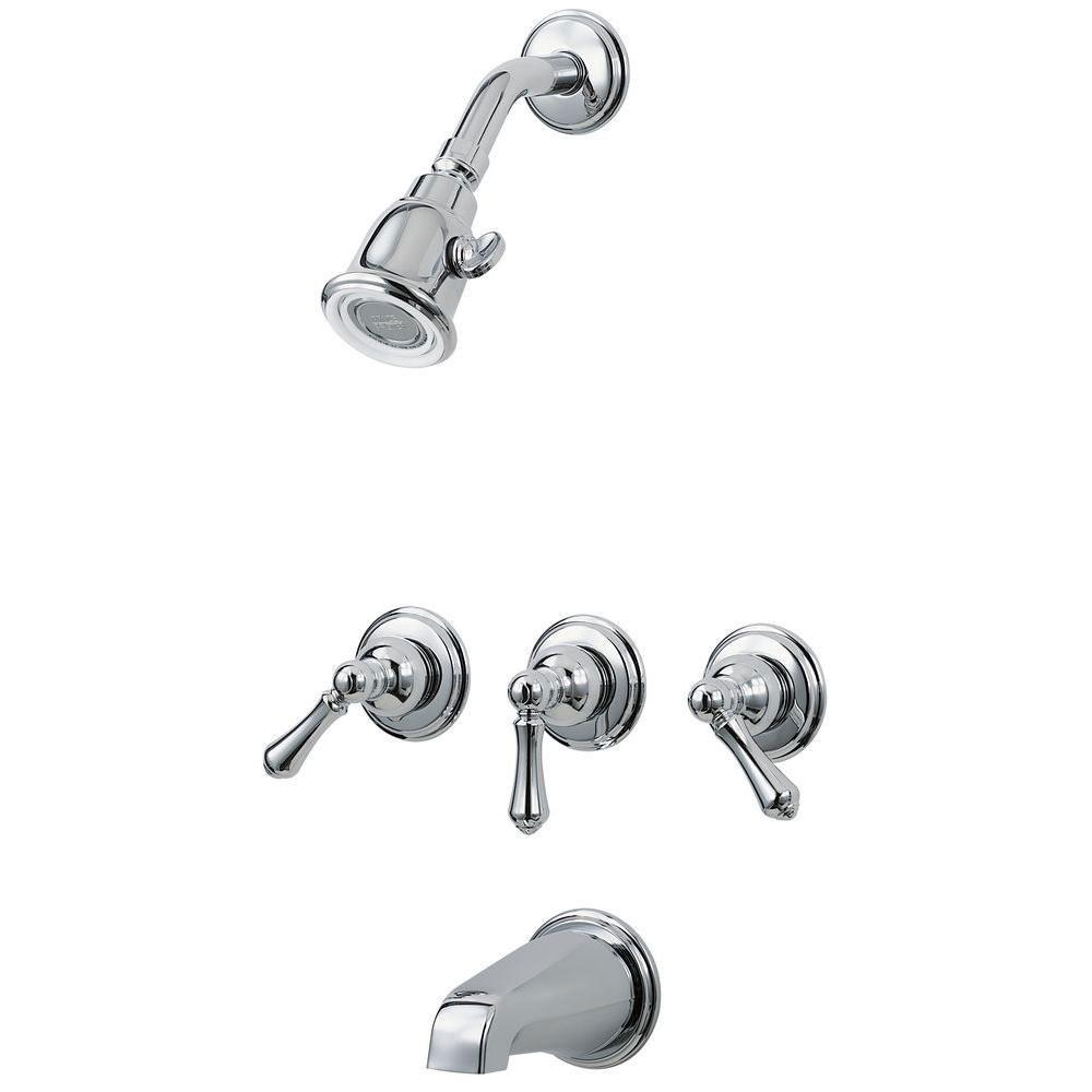 Price Pfister 01 Series 3-Handle Tub and Shower Faucet Trim Kit in ...