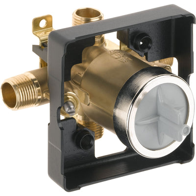 Delta Cassidy Collection Polished Nickel Monitor 14 Series Shower Valve Control Only INCLUDES Single Cross Handle and Rough-in Valve with Stops D1862V