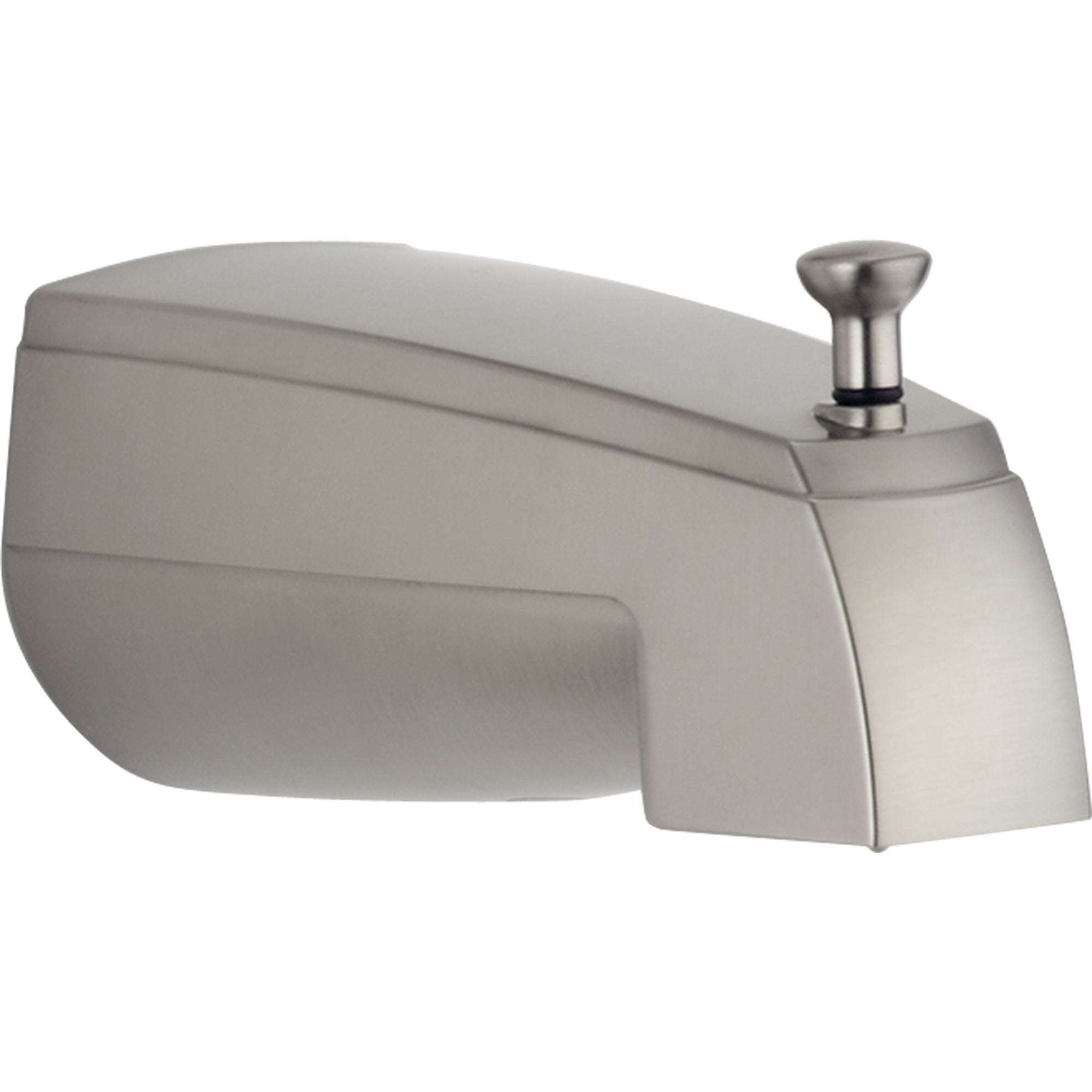 "Delta Stainless Steel Finish 5.5"" Pull-Up Diverter Tub Spout 588660"