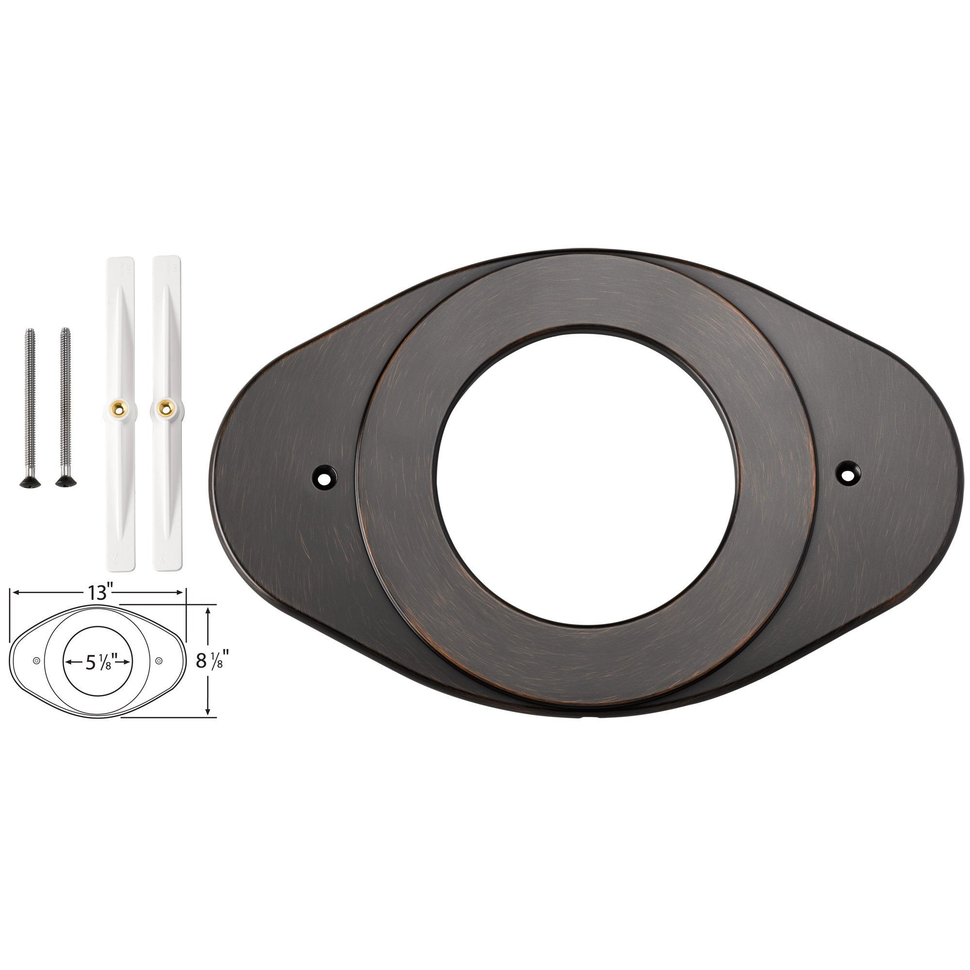 Delta Shower Valve Renovation Cover Plate in Venetian Bronze 550040