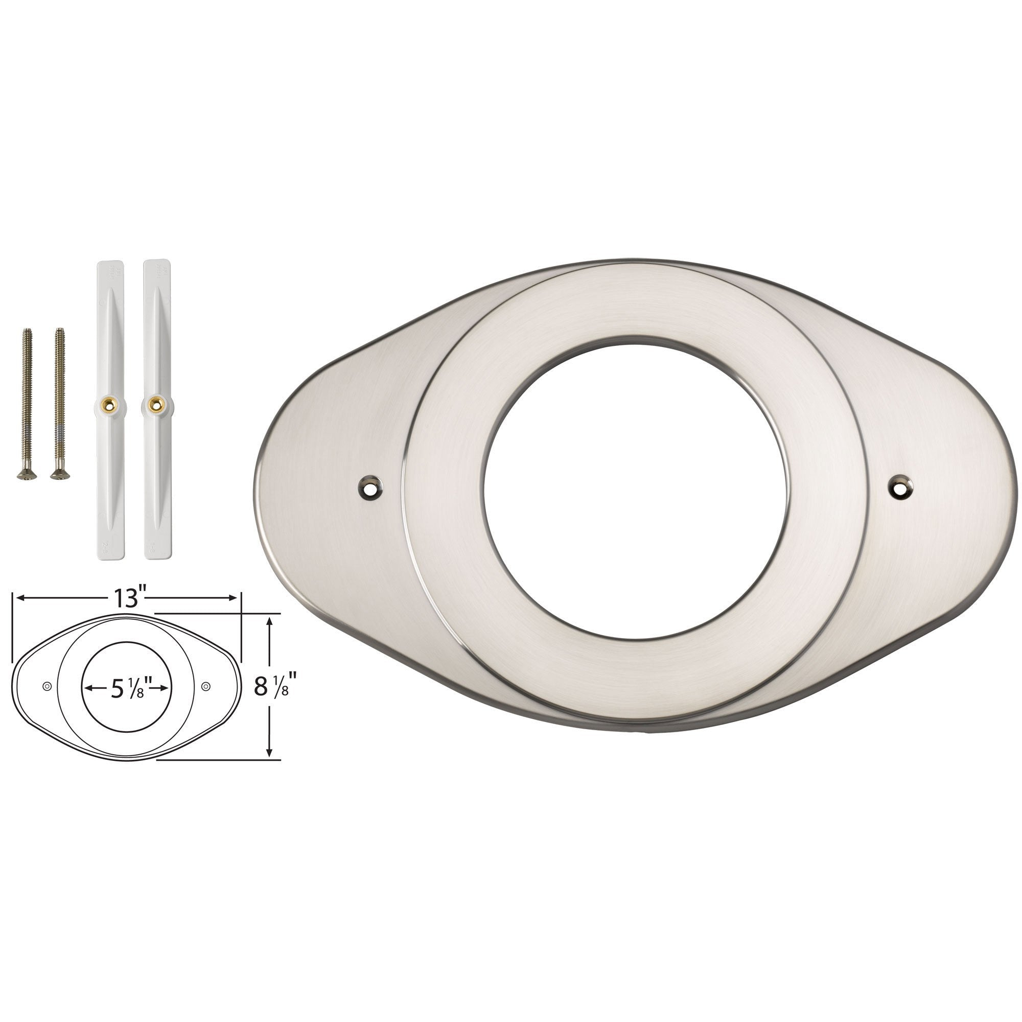 Delta Stainless Steel Finish Shower Valve Renovation Cover Plate 528570