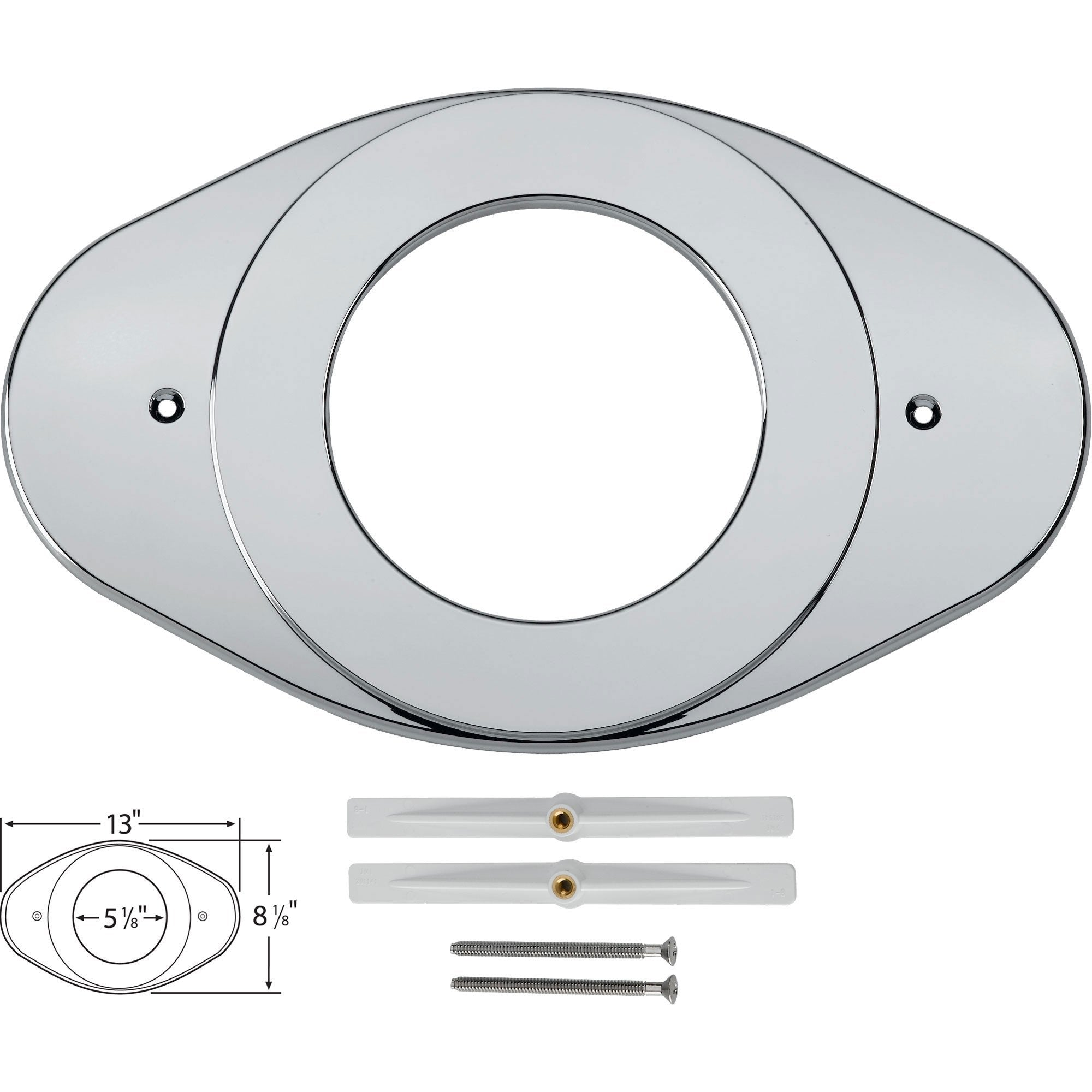 Delta Shower Valve Renovation Cover Plate in Chrome 162057