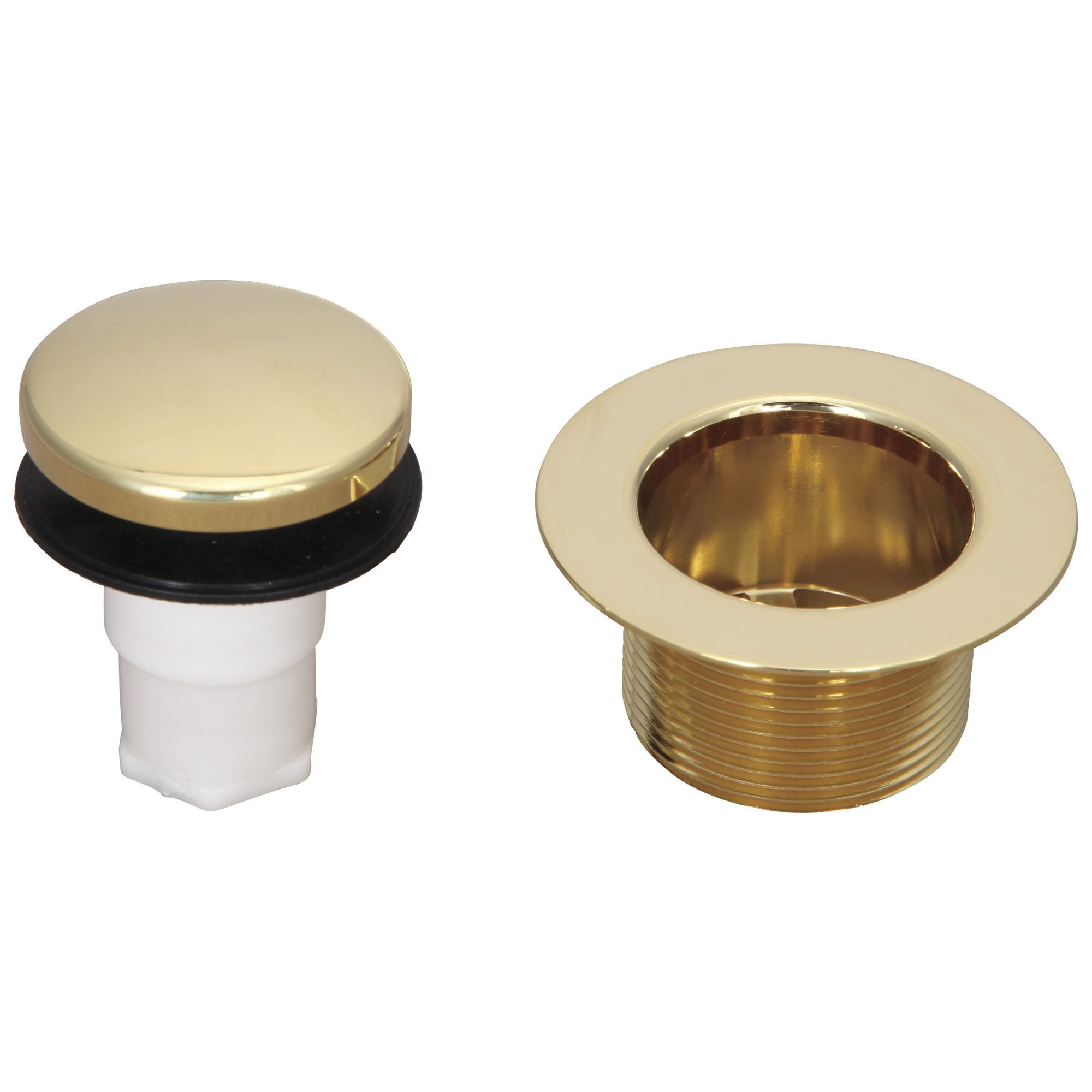 Delta Polished Brass Finish Touch Toe Operated Stopper and Waste Plug Tub Drain 208253