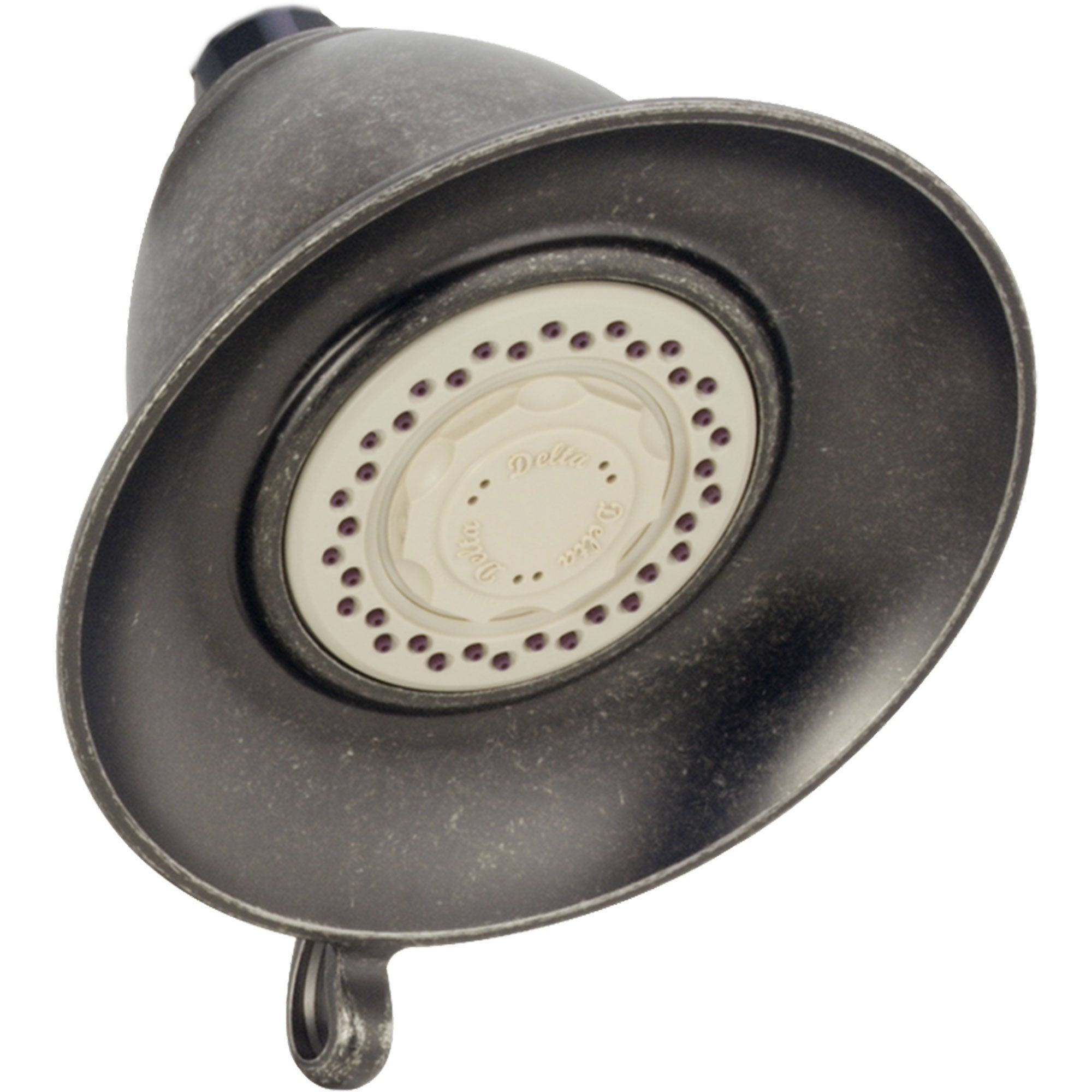 "Delta Victorian 5-1/2"" Aged Pewter Finish Touch-Clean Showerhead 725201"