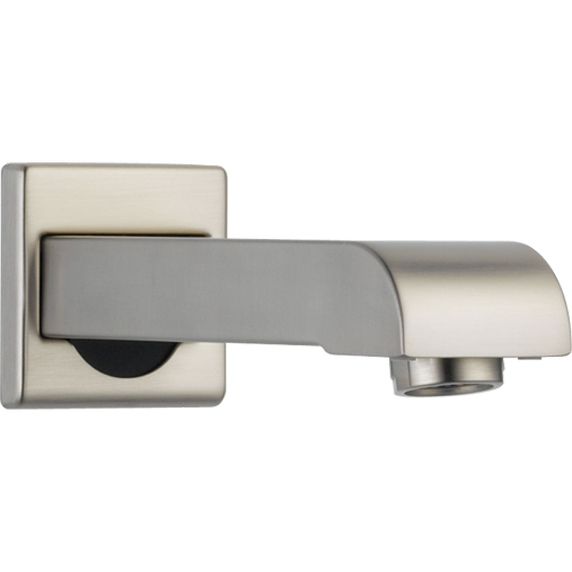 "Delta Arzo Stainless Steel Finish Modern 7"" Metal Non-Diverter Tub Spout 588645"