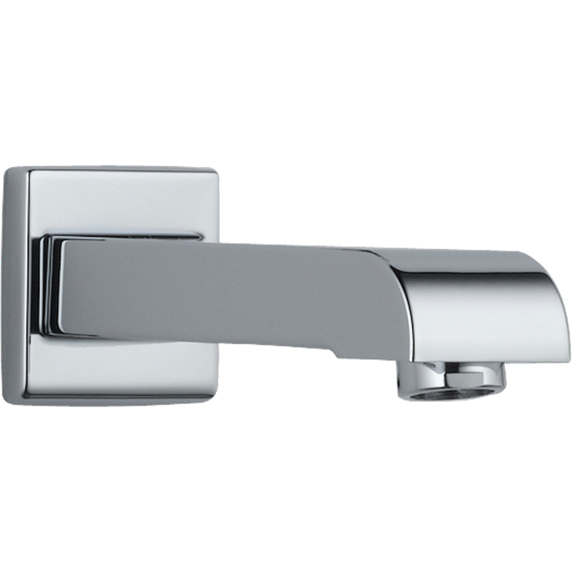 Delta Arzo Modern 7 inch Metal Non-Diverter Tub Spout in Chrome ...