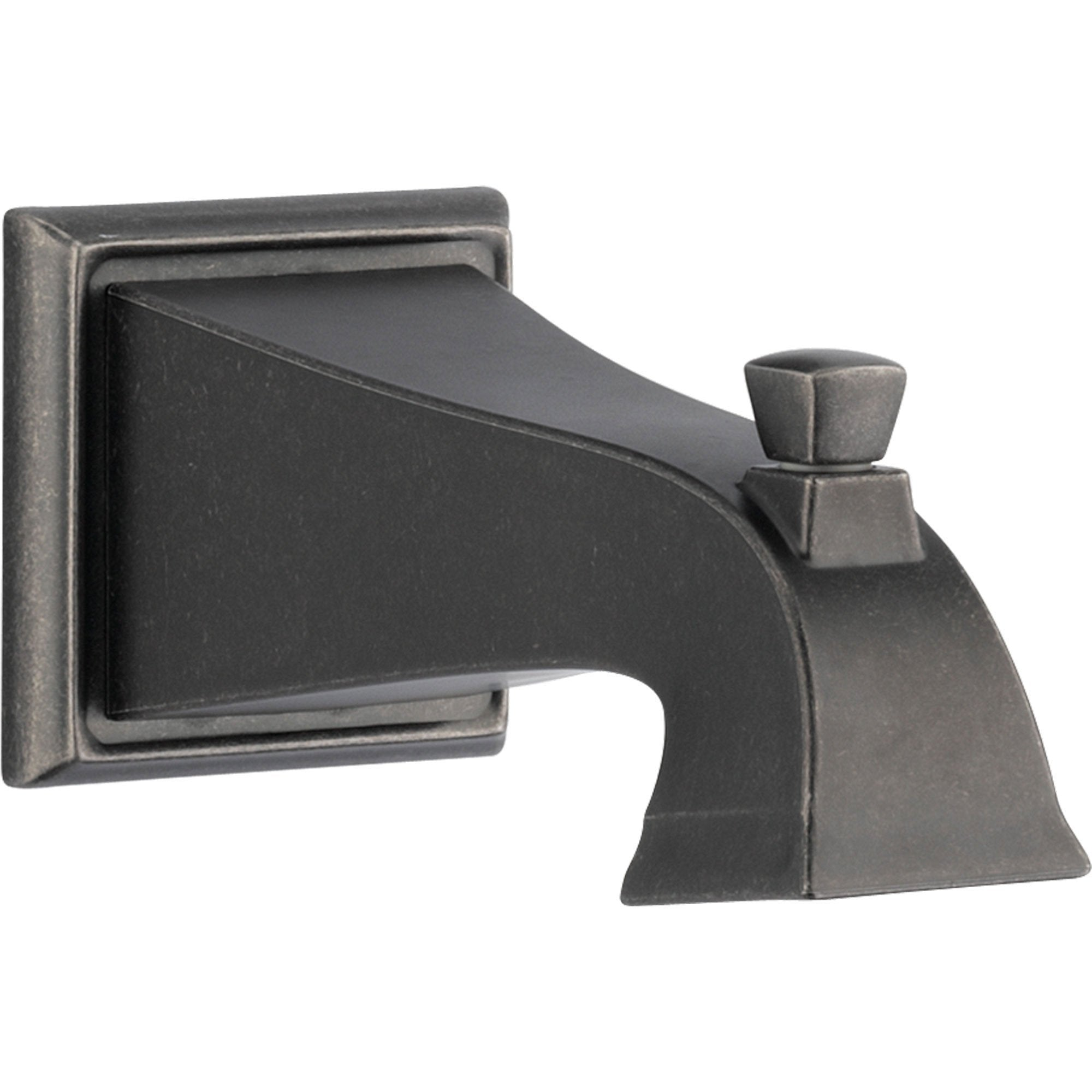 "Delta Dryden Modern 7.5"" Aged Pewter Pull-Up Diverter Tub Spout 590384"