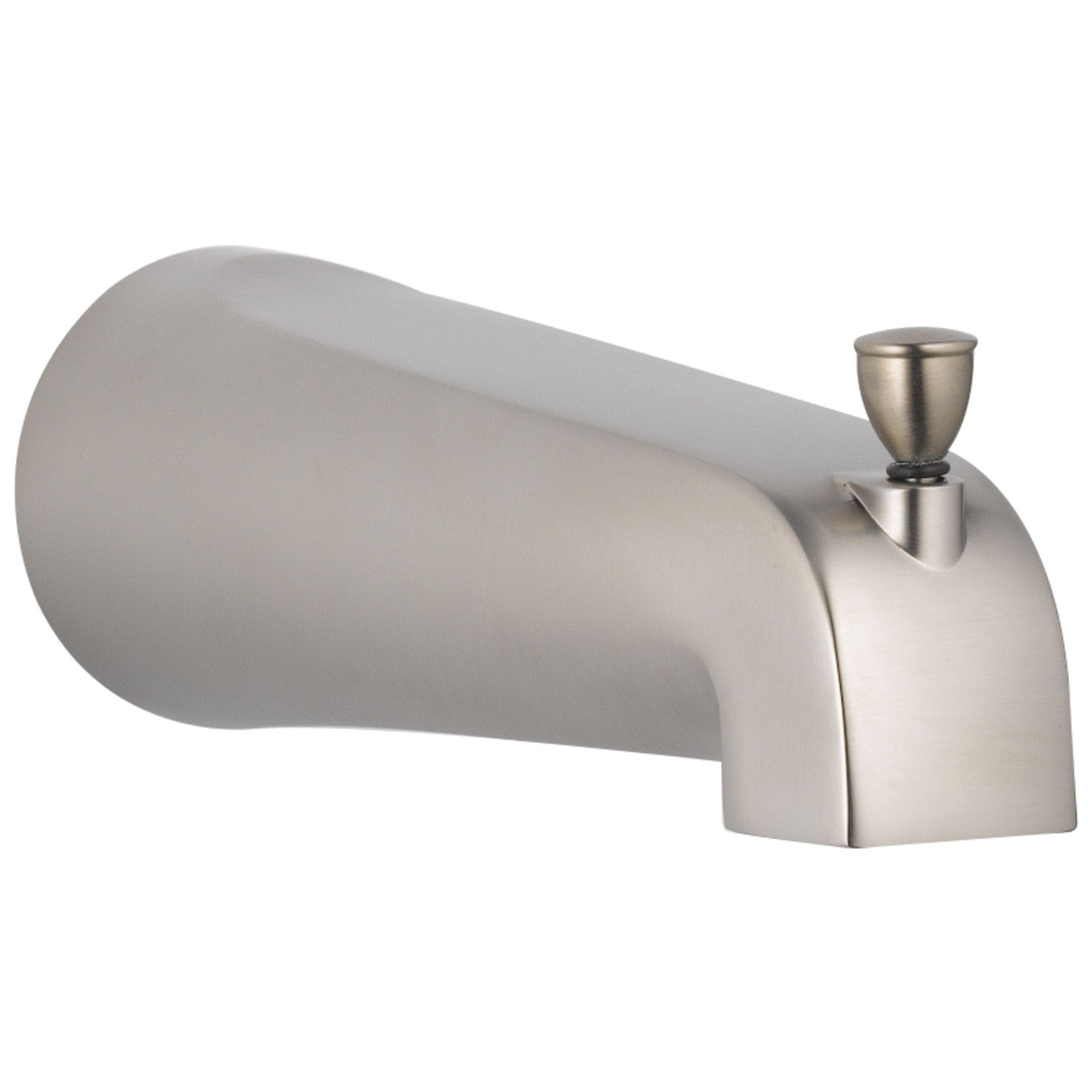Delta Foundations Stainless Steel Finish Tub Spout with Pull-Up Diverter DRP64721SS