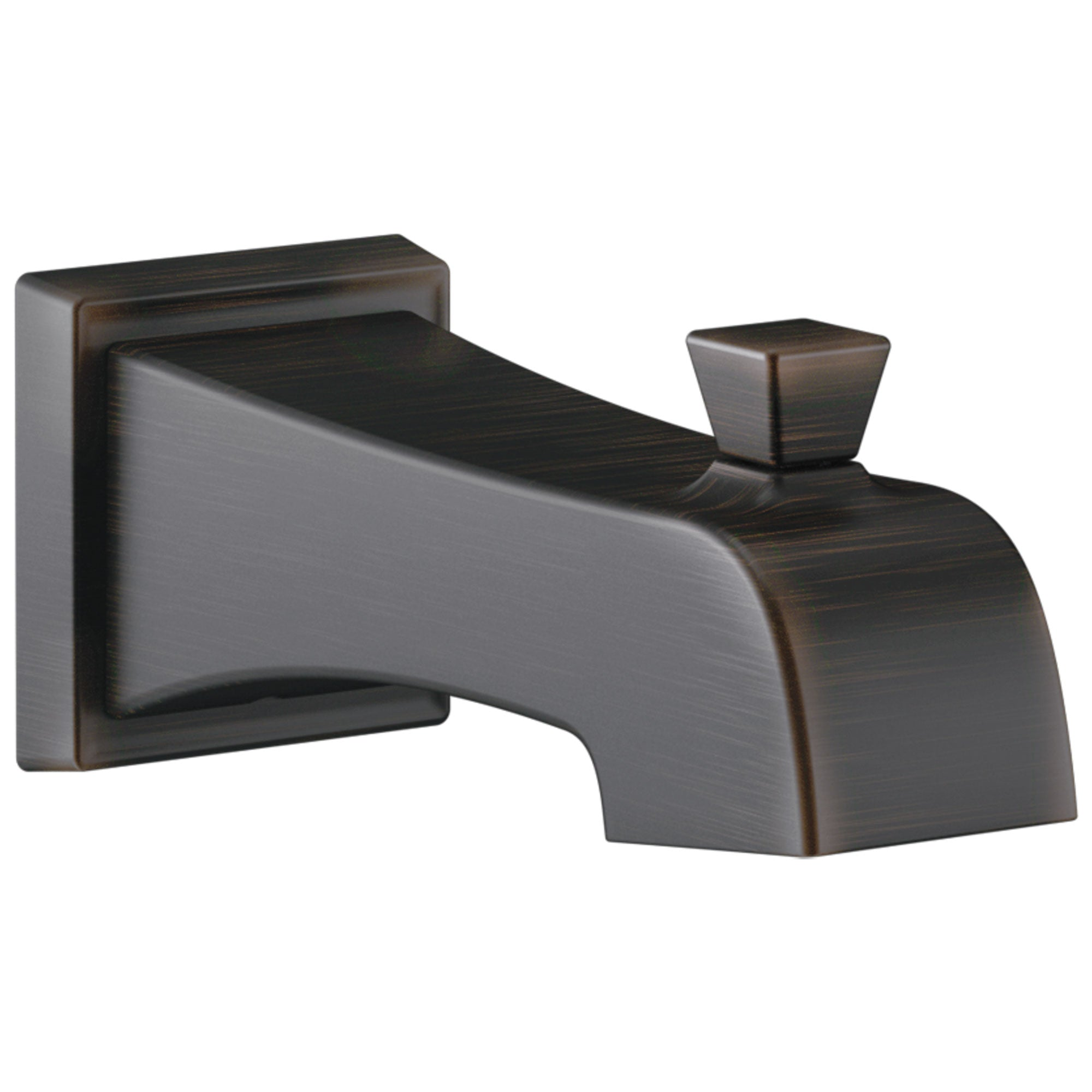 Delta Flynn Venetian Bronze Finish Tub Spout with Pull-Up Diverter DRP77091RB