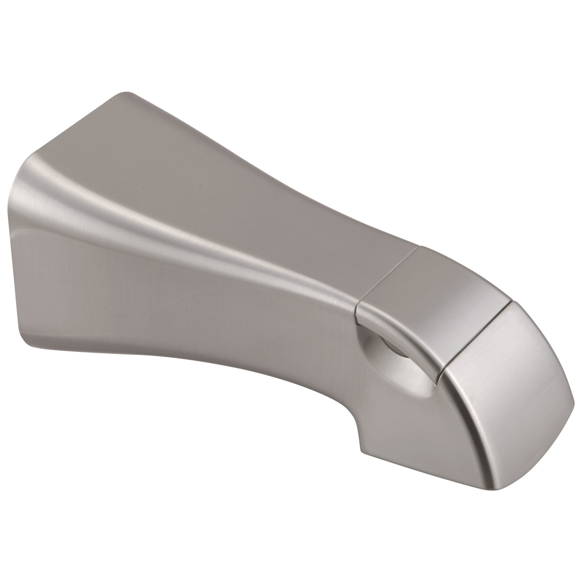 Delta Tesla Collection Stainless Steel Finish Wall Mounted Modern Pull-Up Diverter Bath Tub Spout DRP78735SS