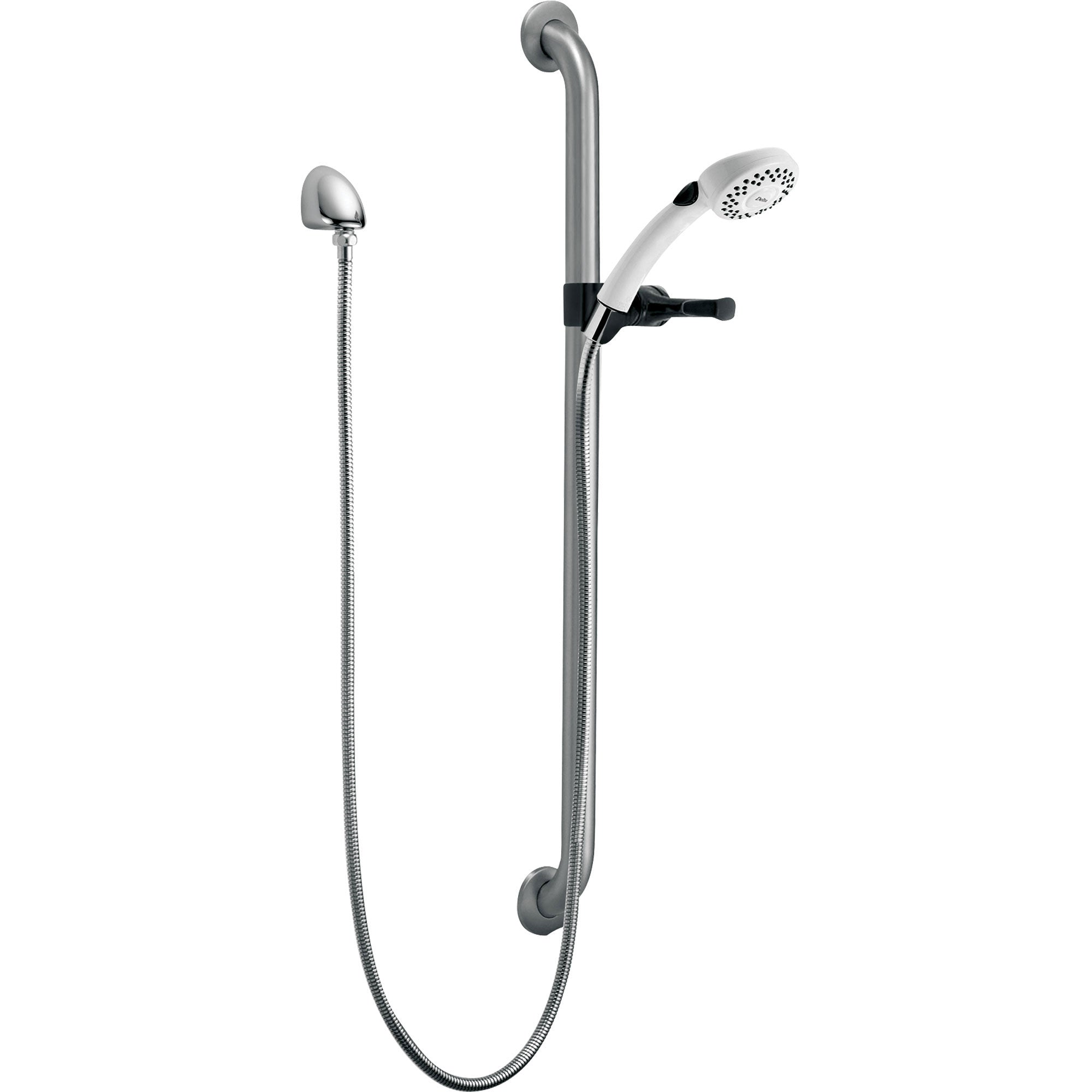 Delta Chrome 2-Spray Grab Bar with Hand Held Shower Head Sprayer 313753