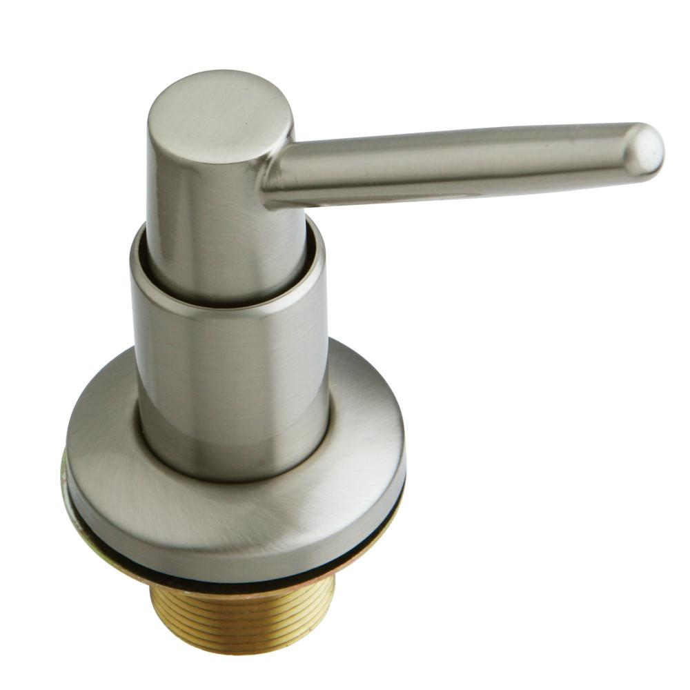 Kingston Brass Satin Nickel Elinvar deck mount Easy Fill Soap Dispenser SD8648