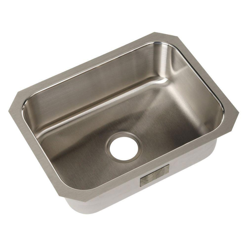 Sterling McAllister Undermount Stainless Steel 17.6875 inch 0-Hole Single Bowl Kitchen Sink 249729