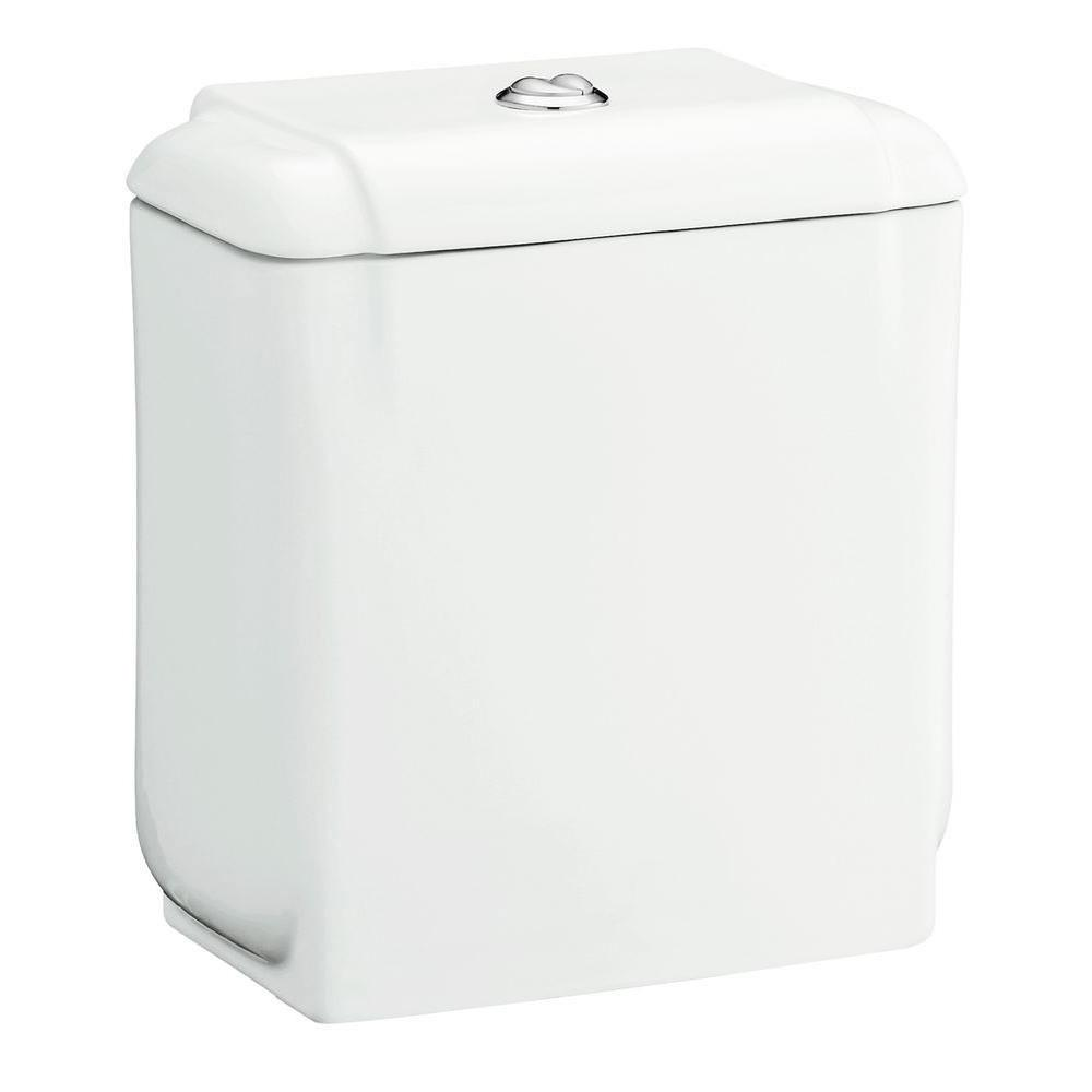 Sterling Rockton 1.1 GPF Toilet Tank Only with Chrome Push Button and Lid, White 591641