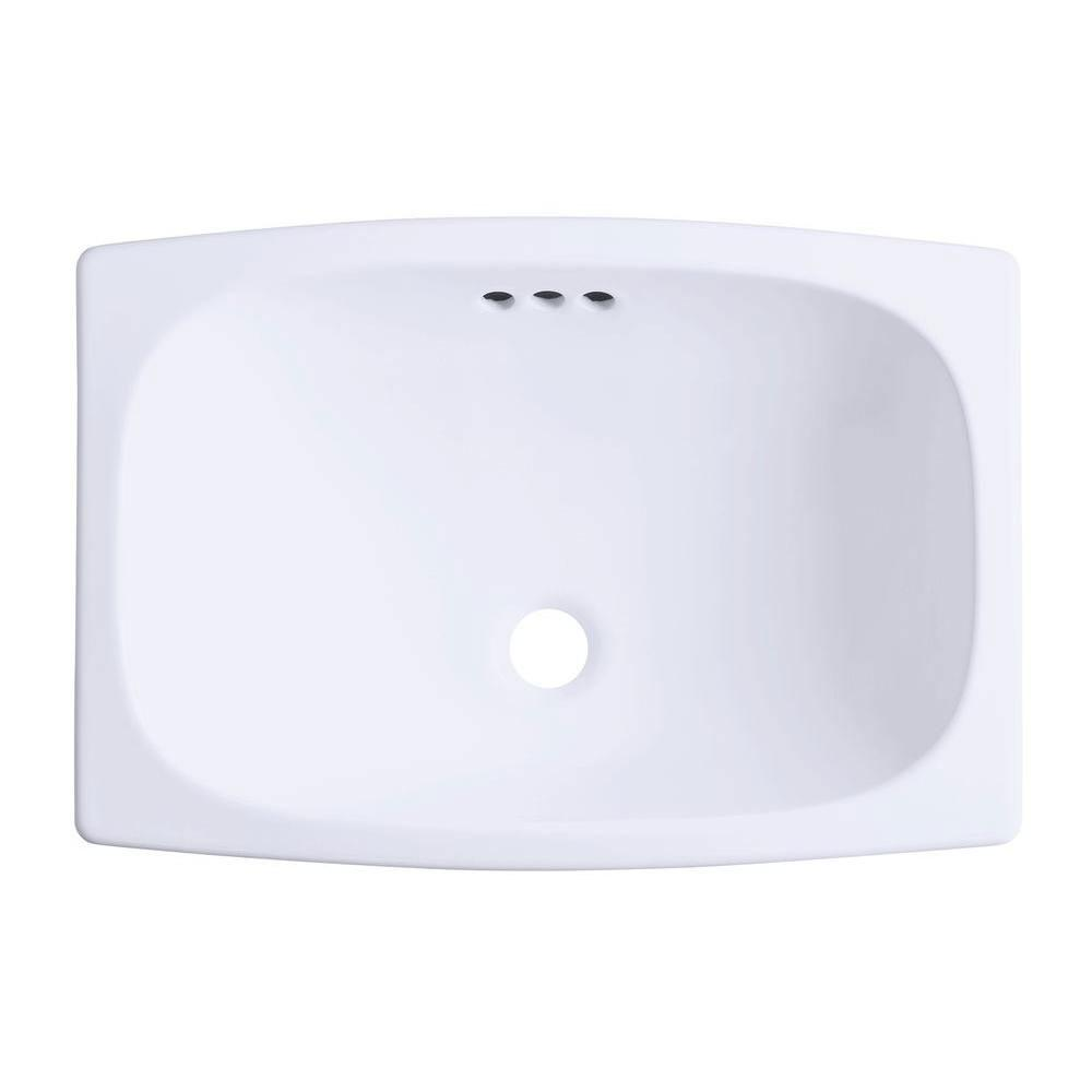 Sterling Stinson Drop-in Bathroom Sink in White 663167