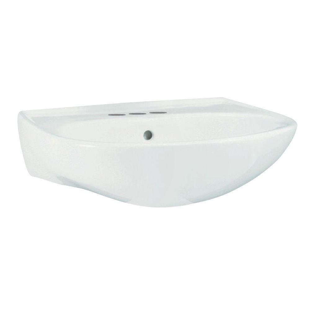 Sterling Sacramento 9 inch Wall-Hung Pedestal Sink Basin in White 663894