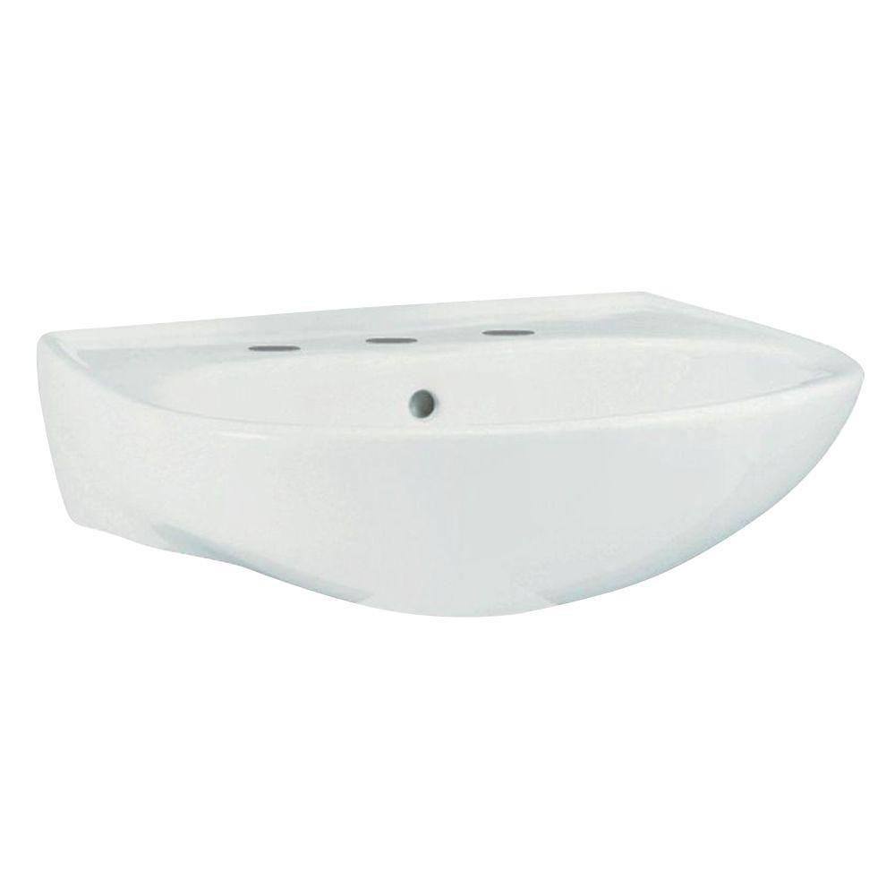 Sterling Sacramento 9 inch Wall-Hung Pedestal Sink Basin in White 663895