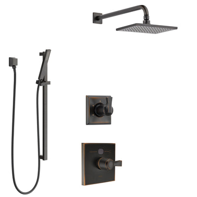 Delta Dryden Venetian Bronze Finish Shower System with Temp2O Control Handle, 3-Setting Diverter, Showerhead, and Hand Shower with Slidebar SS1401RB8