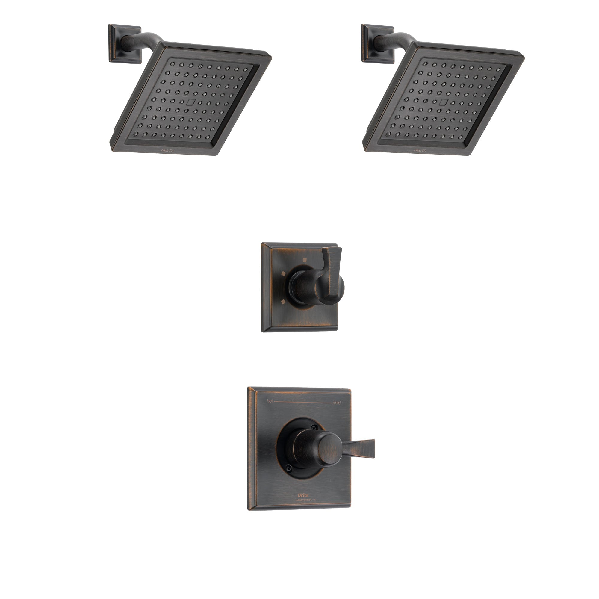 Delta Dryden Venetian Bronze Finish Shower System with Control Handle, 3-Setting Diverter, 2 Showerheads SS142511RB6