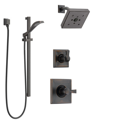 Delta Dryden Venetian Bronze Finish Shower System with Control Handle, 3-Setting Diverter, Showerhead, and Hand Shower with Slidebar SS142512RB4