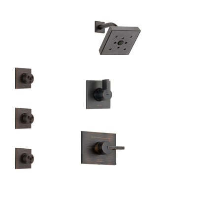 Delta Vero Venetian Bronze Finish Shower System with Control Handle, 3-Setting Diverter, Showerhead, and 3 Body Sprays SS142532RB1