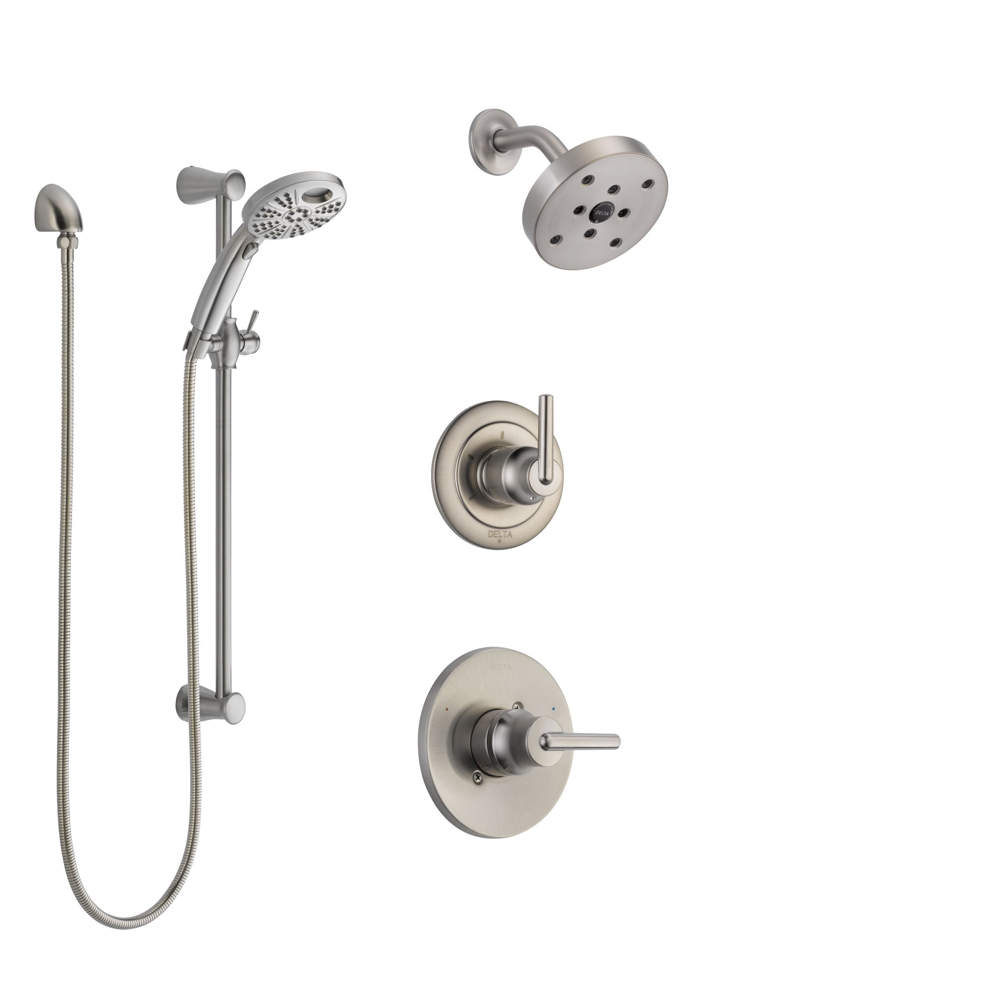Delta Trinsic Stainless Steel Finish Shower System with Control ...