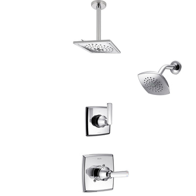 Delta Ashlyn Chrome Finish Shower System with Control Handle, 3-Setting Diverter, Showerhead, and Ceiling Mount Showerhead SS1426414