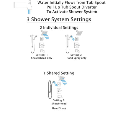 Delta Dryden Stainless Steel Finish Tub and Shower System with Control Handle, Diverter, Showerhead, and Hand Shower with Grab Bar SS144511SS3