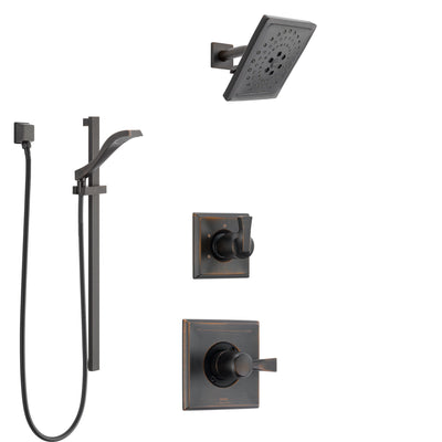 Delta Dryden Venetian Bronze Finish Shower System with Control Handle, 3-Setting Diverter, Showerhead, and Hand Shower with Slidebar SS1451RB6