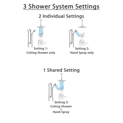 Delta Tesla Stainless Steel Finish Shower System with Control Handle, Diverter, Ceiling Mount Showerhead, and Hand Shower with Grab Bar SS1452SS1