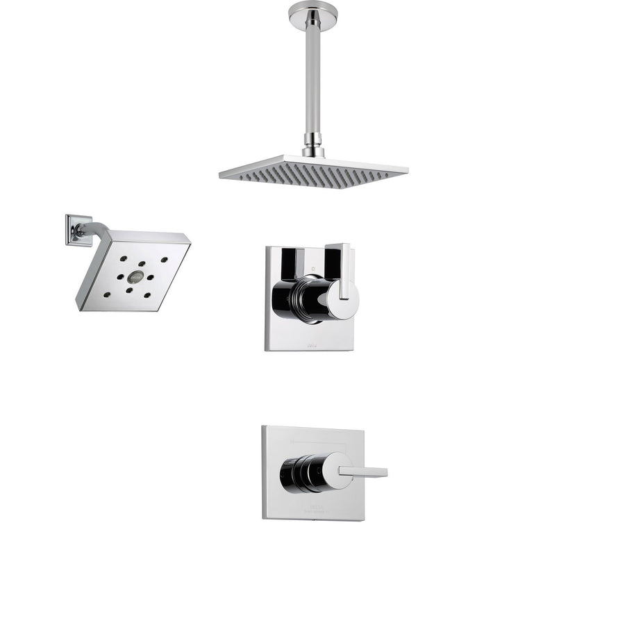 delta vero chrome shower system with normal shower handle 3setting diverter large