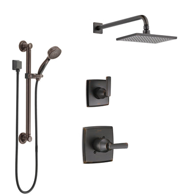 Delta Ashlyn Venetian Bronze Finish Shower System with Control Handle, 3-Setting Diverter, Showerhead, and Hand Shower with Grab Bar SS1464RB1