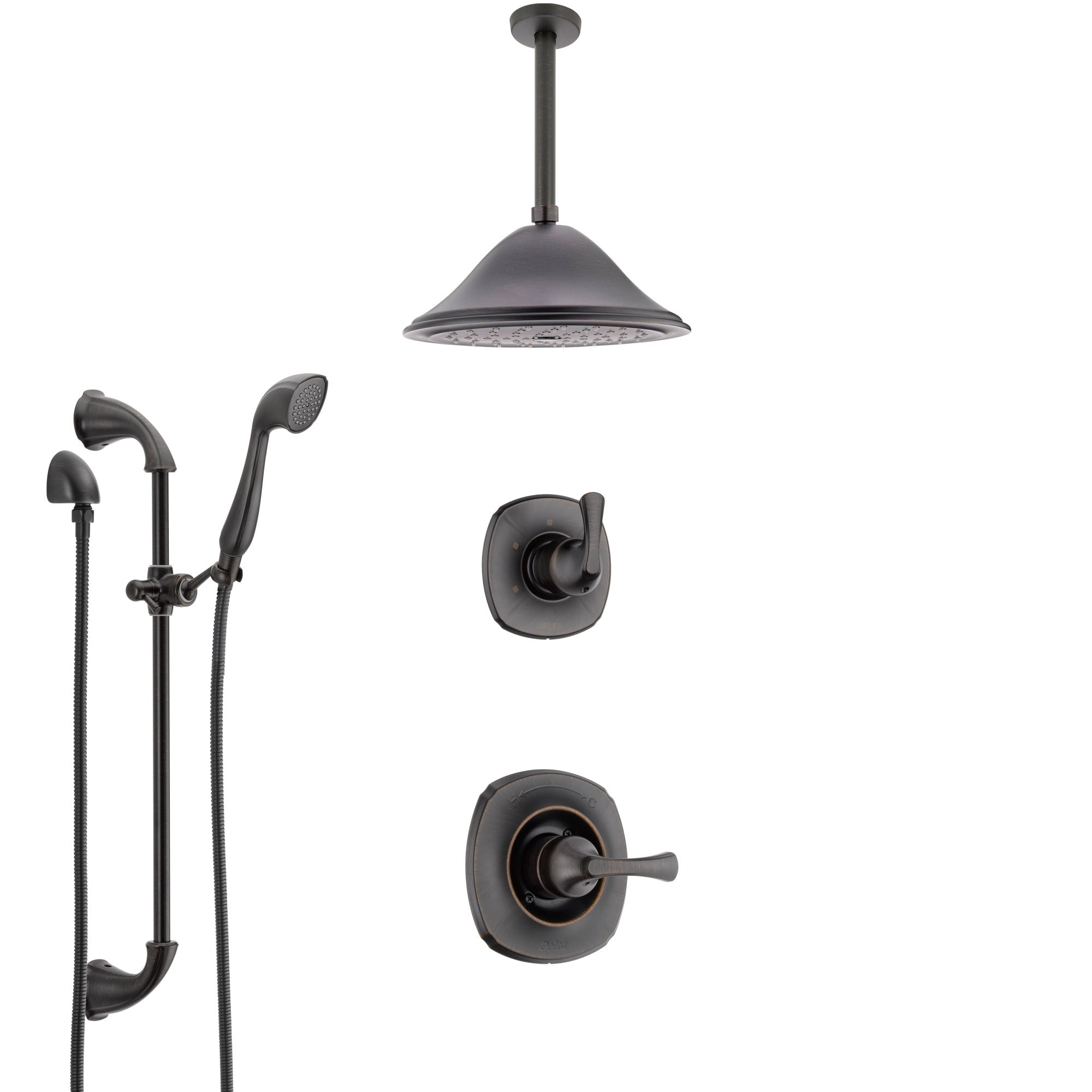Delta Addison Venetian Bronze Shower System with Control Handle, 3 ...