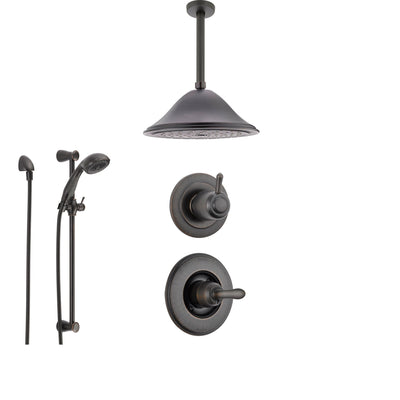 Delta Linden Venetian Bronze Shower System with Normal Shower Handle, 3-setting Diverter, Showerhead, and Handheld Shower Spray SS149482RB