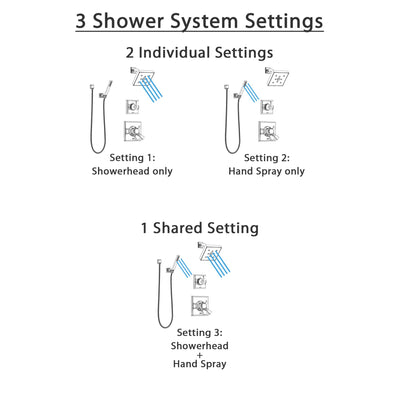 Delta Dryden Chrome Finish Shower System with Dual Control Handle, 3-Setting Diverter, Showerhead, and Hand Shower with Wall Bracket SS1725125