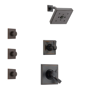 Delta Dryden Venetian Bronze Finish Shower System with Dual Control Handle, 3-Setting Diverter, Showerhead, and 3 Body Sprays SS172512RB2