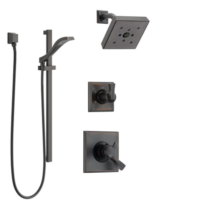 Delta Dryden Venetian Bronze Finish Shower System with Dual Control Handle, 3-Setting Diverter, Showerhead, and Hand Shower with Slidebar SS172512RB4
