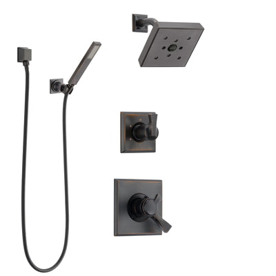 Delta Dryden Venetian Bronze Shower System with Dual Control Handle, 3-Setting Diverter, Showerhead, and Hand Shower with Wall Bracket SS172512RB5