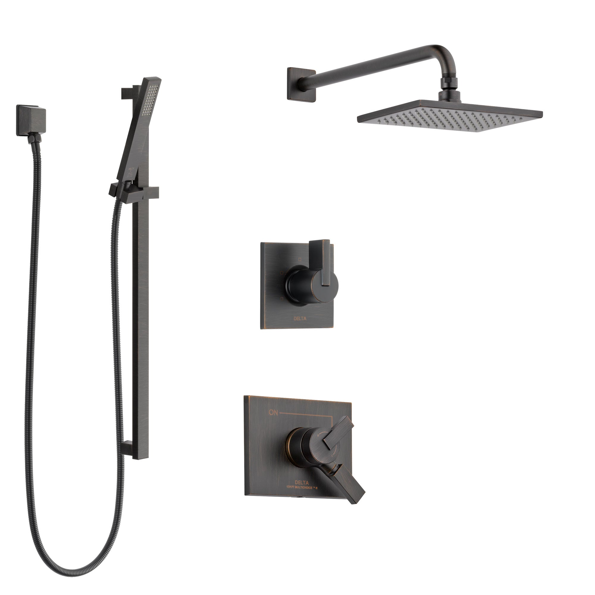 Delta Vero Venetian Bronze Finish Shower System with Dual Control Handle, 3-Setting Diverter, Showerhead, and Hand Shower with Slidebar SS172531RB4