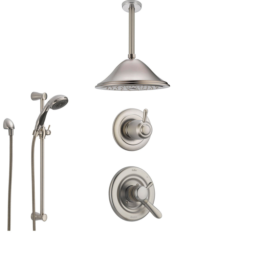 delta lahara stainless steel shower system with dual control shower handle 3setting diverter - Delta Lahara