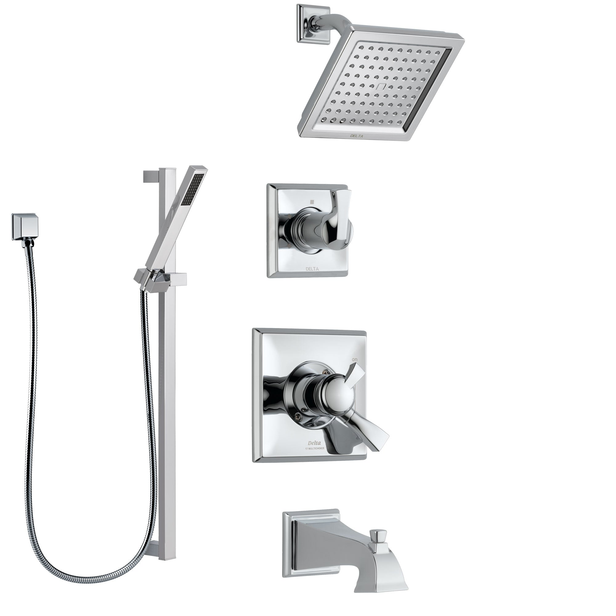 Delta Dryden Chrome Finish Tub And Shower System With Dual
