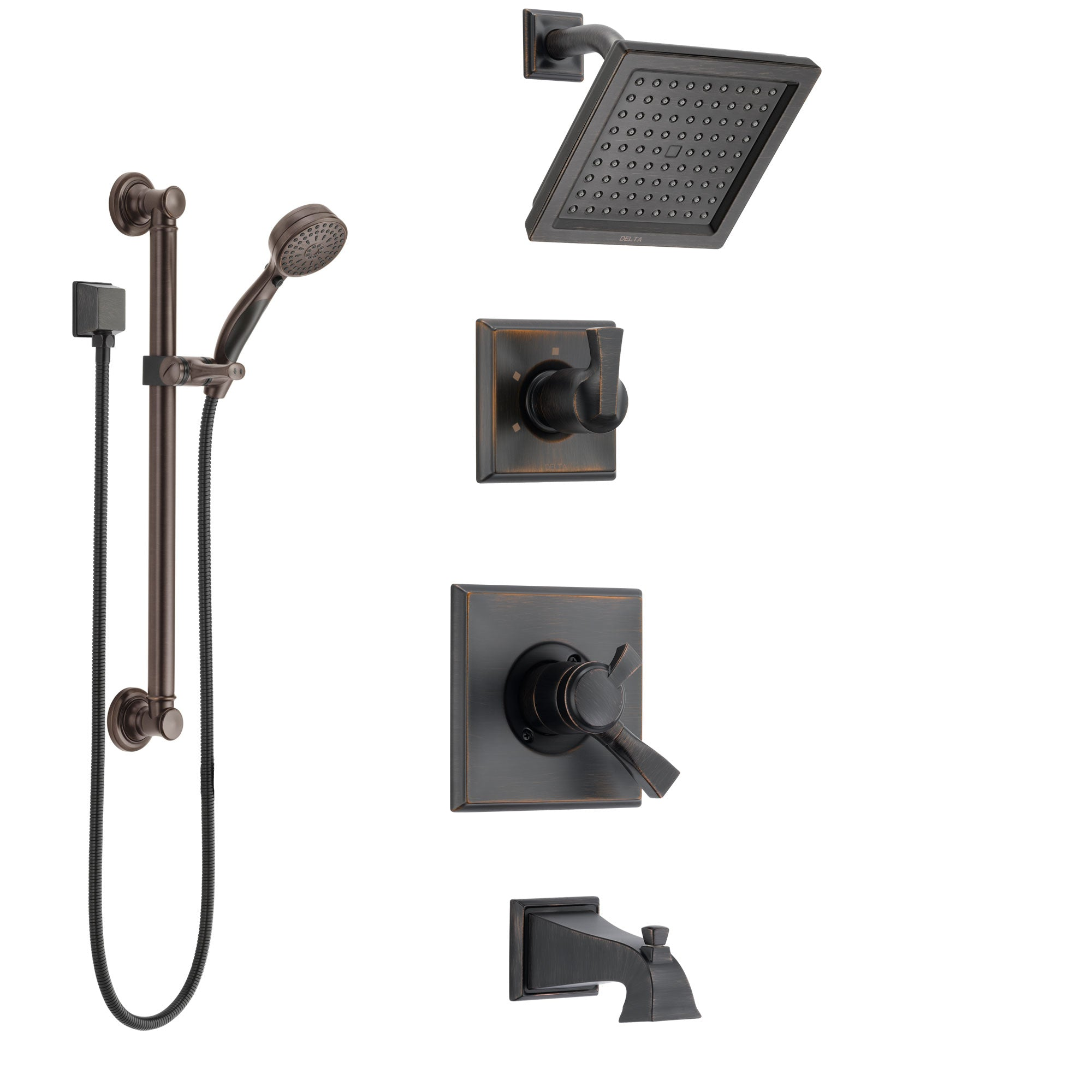 Delta Dryden Venetian Bronze Tub And Shower System With Dual Control