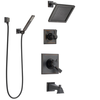Delta Dryden Venetian Bronze Tub and Shower System with Dual Control Handle, Diverter, Showerhead, and Hand Shower with Wall Bracket SS174511RB5
