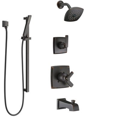 Delta Ashlyn Venetian Bronze Tub and Shower System with Dual Control Handle, 3-Setting Diverter, Showerhead, and Hand Shower with Slidebar SS17464RB4