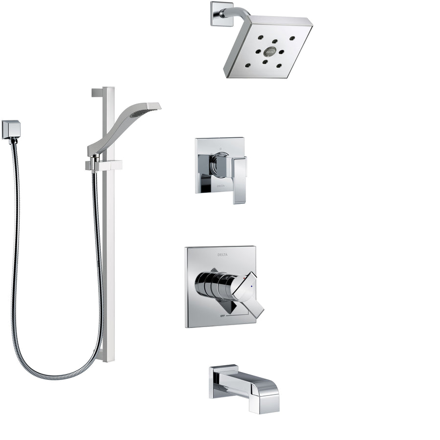Shower System with Tub Spout - FaucetList.com