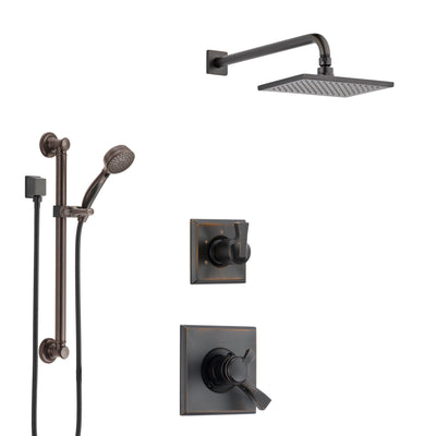 Delta Dryden Venetian Bronze Finish Shower System with Dual Control Handle, 3-Setting Diverter, Showerhead, and Hand Shower with Grab Bar SS1751RB2