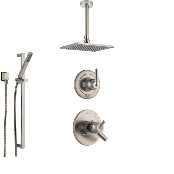 Delta Trinsic Stainless Steel Shower System With Dual