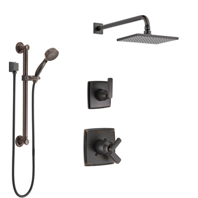 Delta Ashlyn Venetian Bronze Finish Shower System with Dual Control Handle, 3-Setting Diverter, Showerhead, and Hand Shower with Grab Bar SS1764RB1