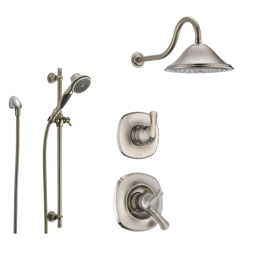 Delta Addison Stainless Steel Shower System With Dual Control Shower  Handle, 3 Setting Diverter